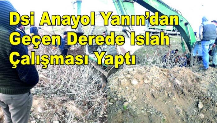 Dsi Anayol Yanın'dan Geçen Derede Islah Çalışması Yaptı