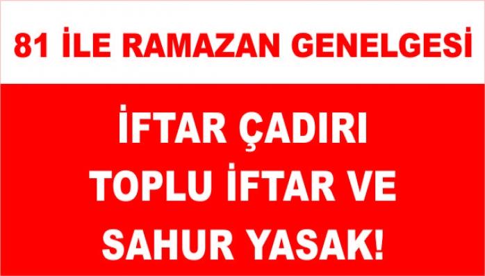 81 İlimize Ramazan Genelgesi Yayınlandı