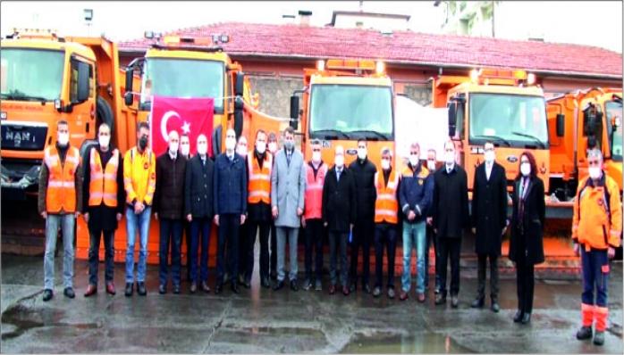 Sivas'ta Ekipler Kışa Hazır