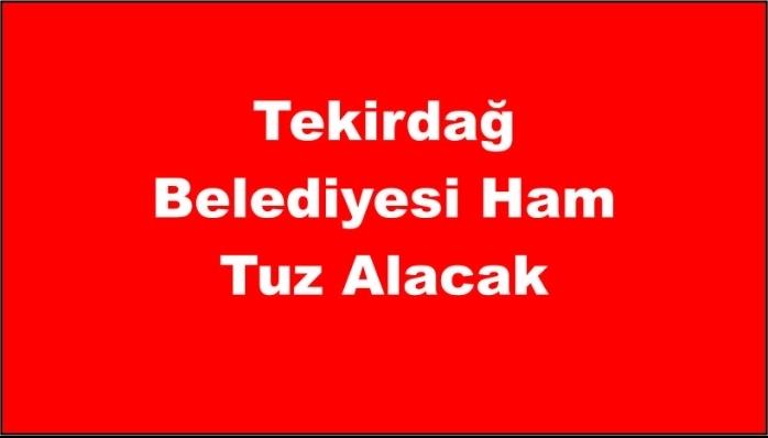 Tekirdağ Belediyesi Ham Tuz Alacak